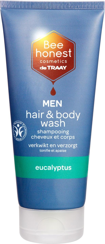 Biologische Bee honest cosmetics Hair & body wash men eucalyptus 200 ml