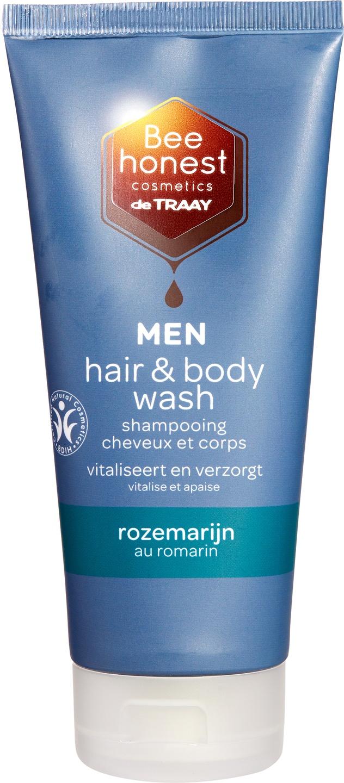 Biologische Bee honest cosmetics Men hair & body wash rozemarijn 200 ml