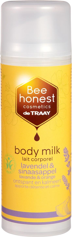 Biologische Bee honest cosmetics Bodymilk lavendel & sinaasappel 150 ml