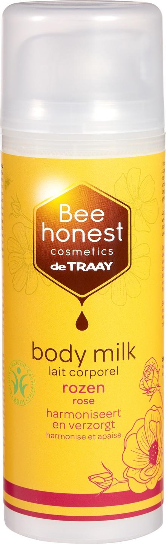 Biologische Bee honest cosmetics Bodymilk rozen 150 ml