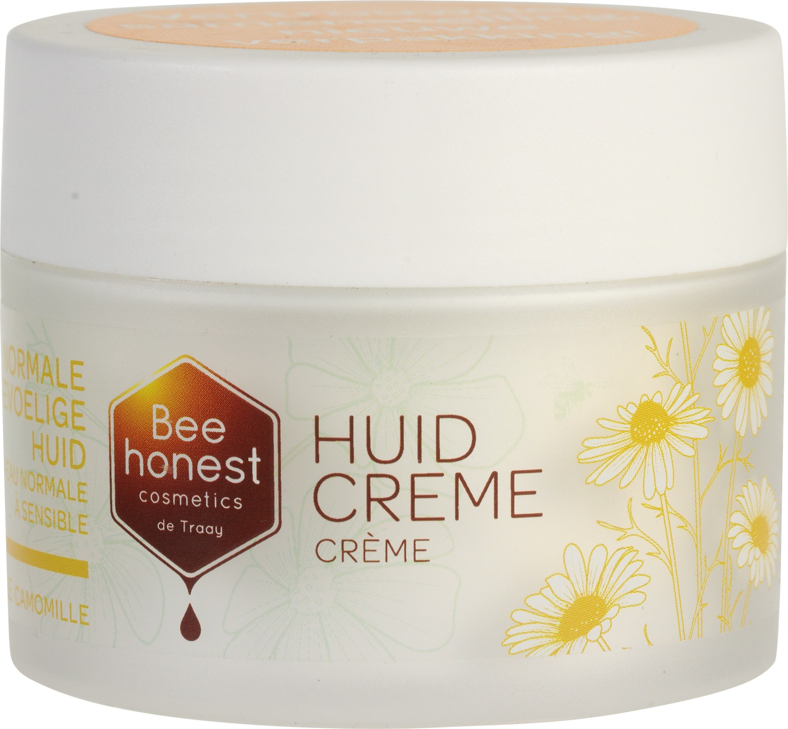 Biologische Bee honest cosmetics Dag- en nachtcrème kamille - normale & gevoelige huid 100 ml