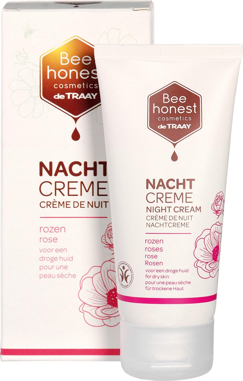 Biologische Bee honest cosmetics Nachtcrème rozen - droge huid 50 ml