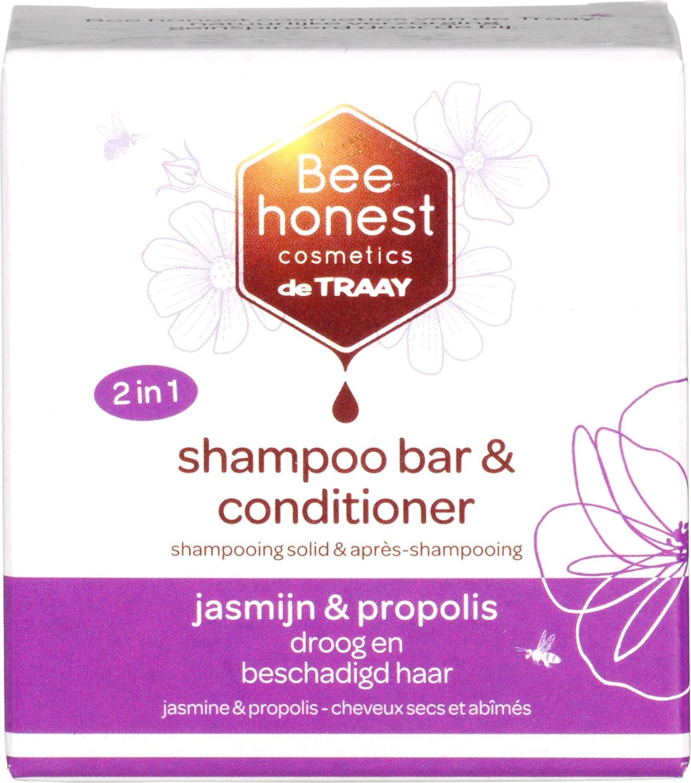 Biologische Bee honest cosmetics Shampoobar jasmijn & propolis 80 gr