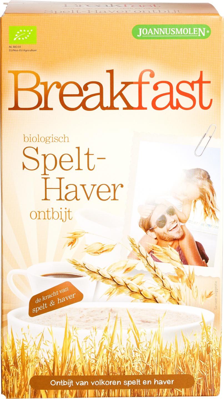 Biologische Joannusmolen Breakfast spelt-haver 300 gr