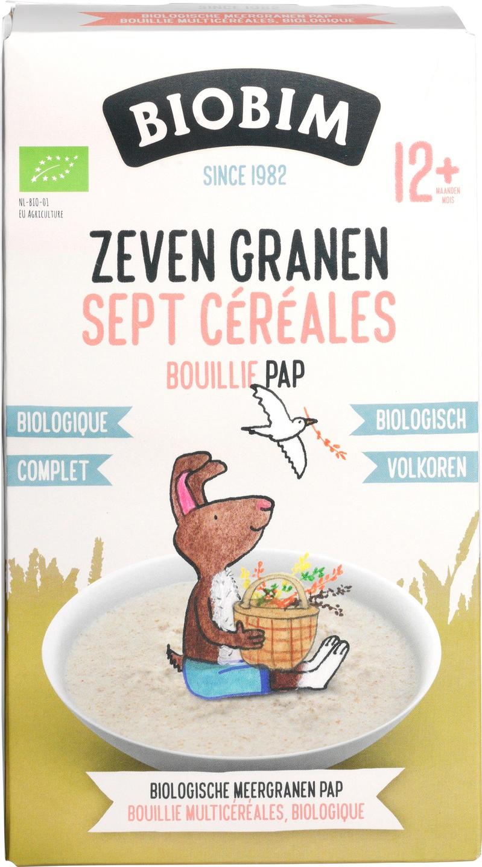 Biologische Biobim Zeven Granen Pap 250 gr