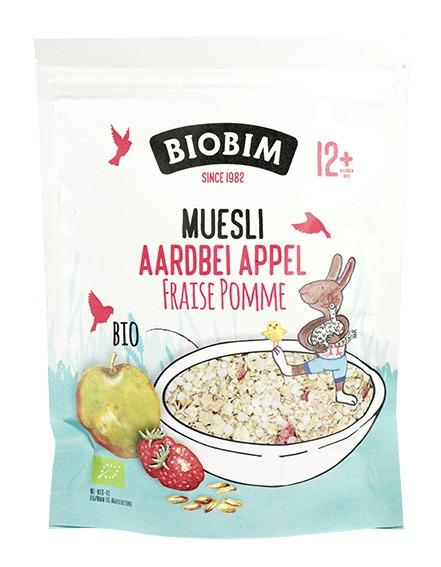 Biologische Biobim Muesli Aardbei Appel 150 gr