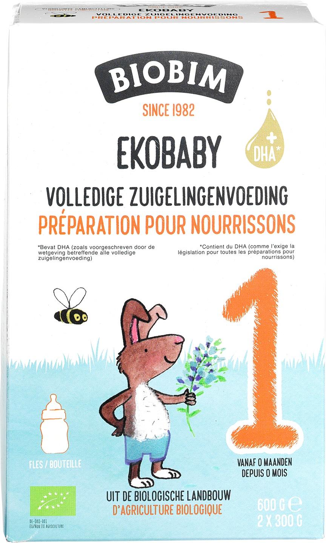 Biologische Biobim Volledige zuigelingenvoeding 1 600 gr
