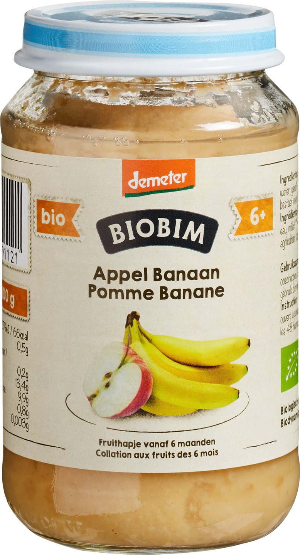 Biologische Biobim Fruithapje appel/banaan 6+ mnd 190 gr