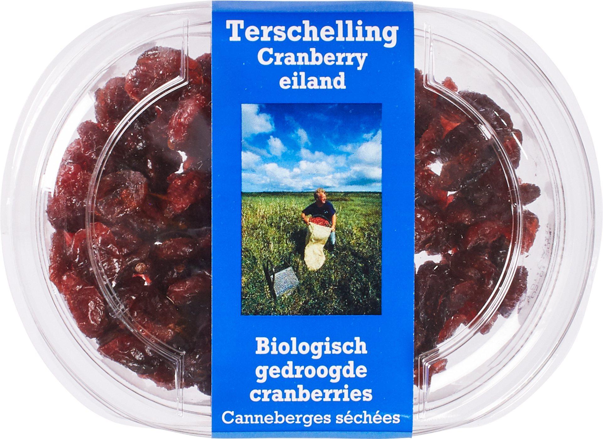 Biologische Terschellinger Gedroogde cranberry 100 gr