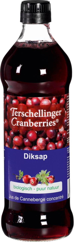 Biologische Terschellinger Diksap cranberry 500 ml