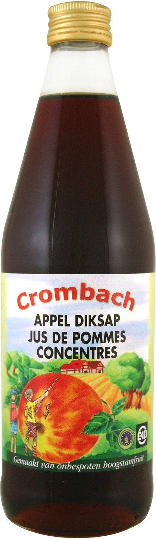Biologische Crombach Diksap appel 500 ml