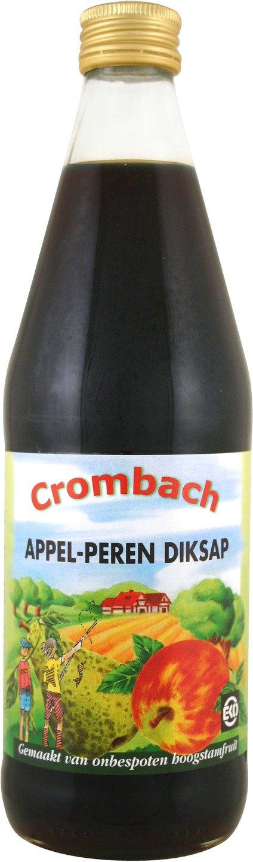 Biologische Crombach Diksap appel peer 500 ml