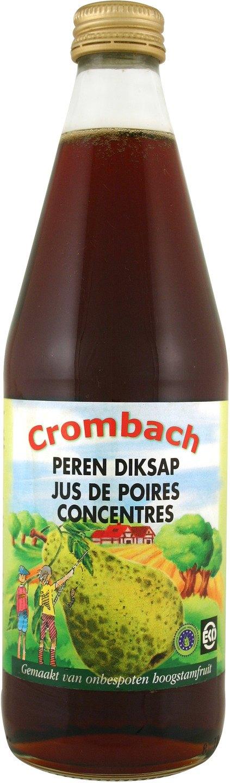 Biologische Crombach Diksap peer 500 ml