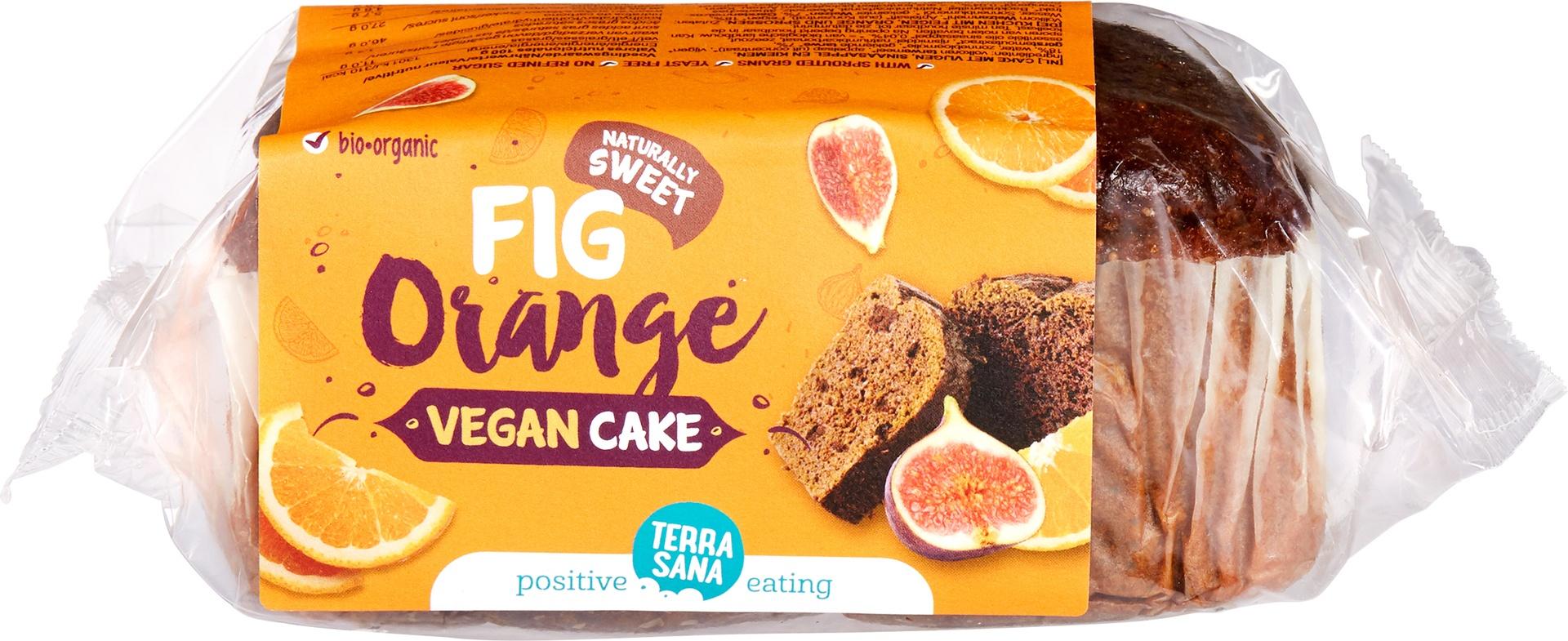 Biologische TerraSana Vegan cake vijgen sinaasappel 350 gr