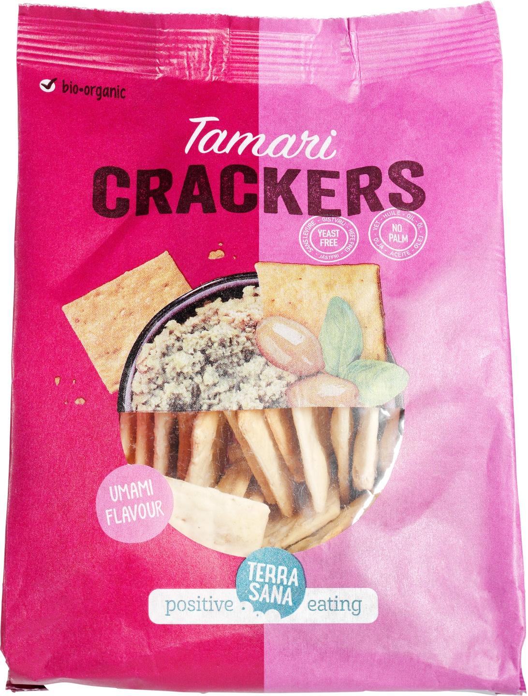 Biologische TerraSana Tamari crackers 110 gr
