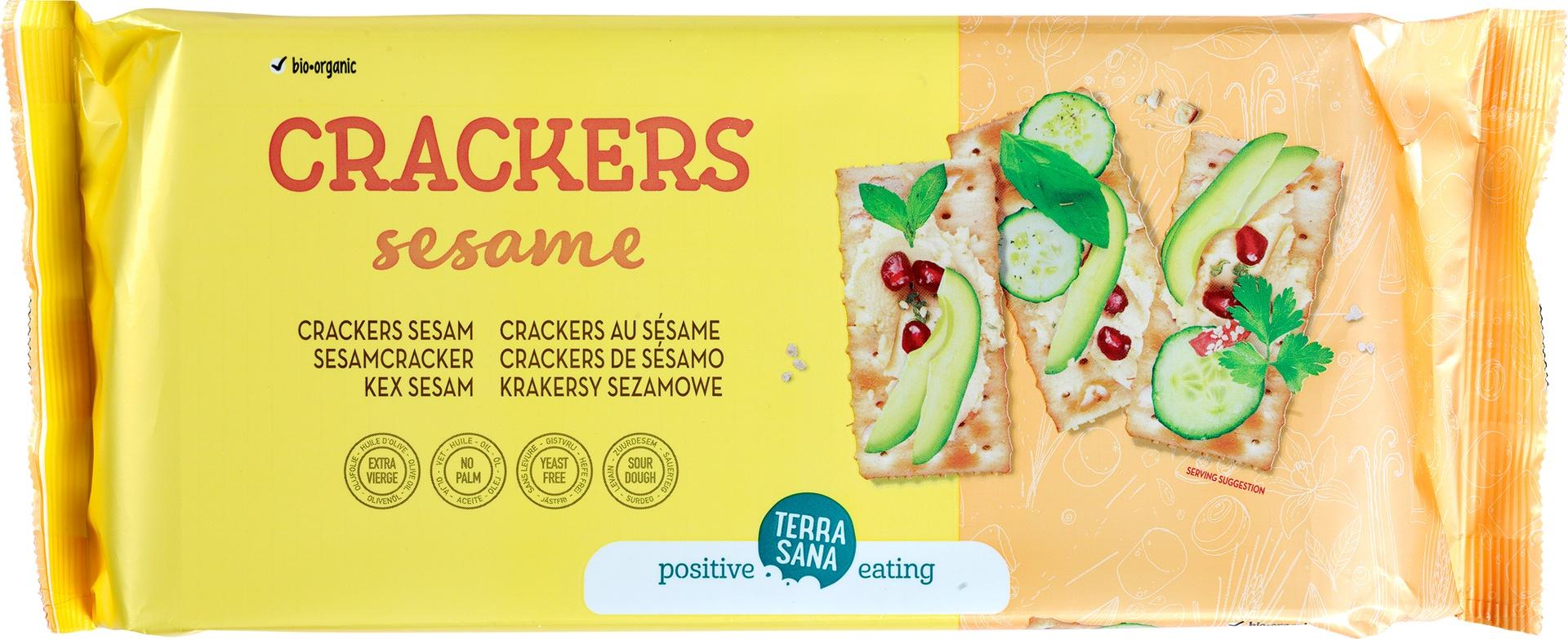 Biologische TerraSana Crackers sesam 300 gr