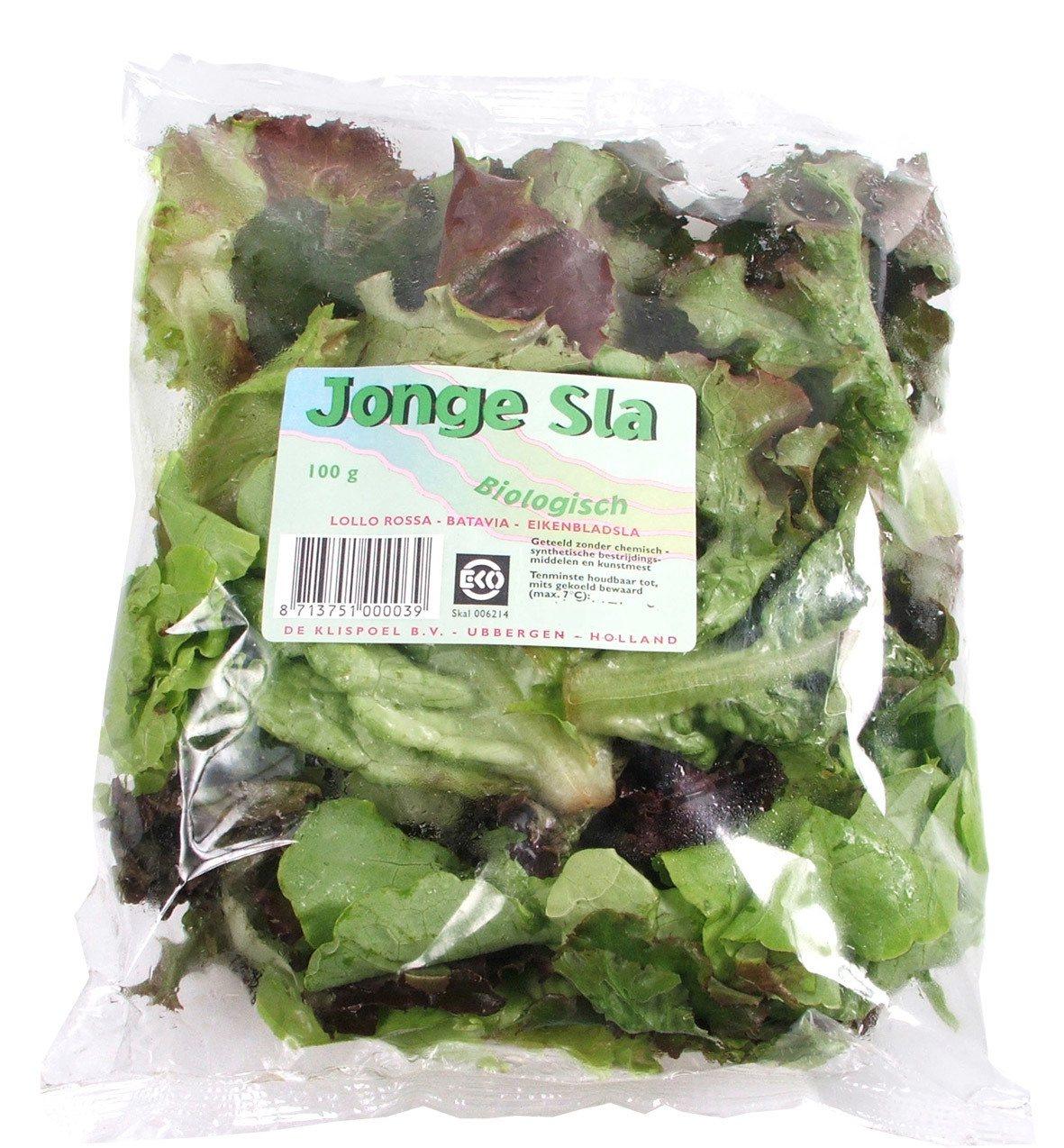 Biologische Klispoel Jonge sla 100 gr