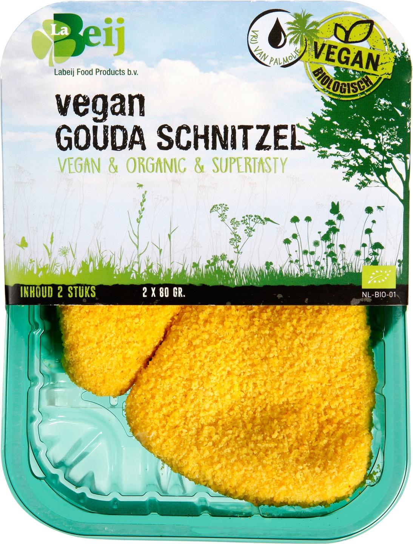 Biologische Labeij Vegan Gouda schnitzel 160 gr