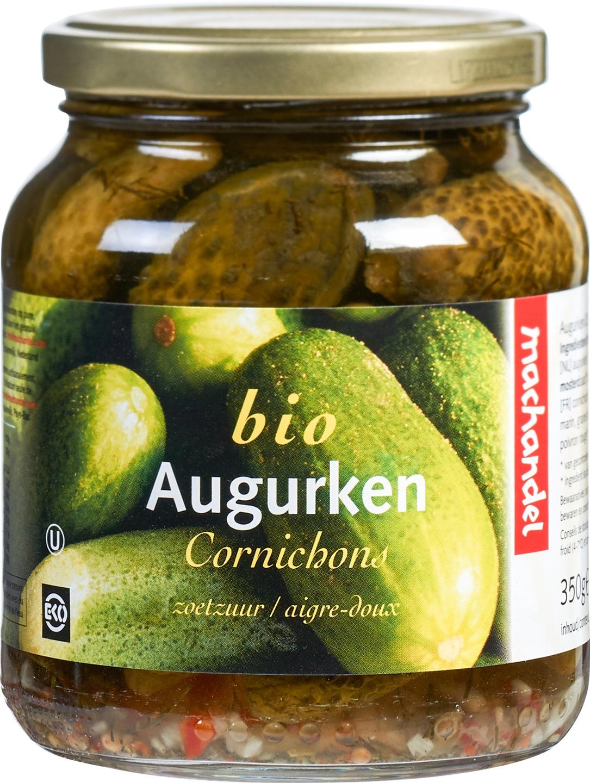 Biologische Machandel Augurken zoetzuur met agave 350 gr