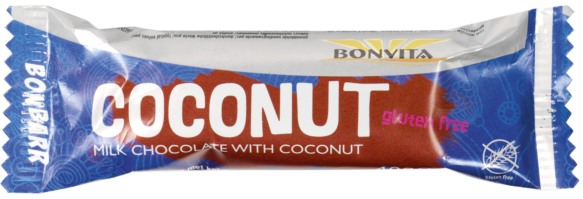 Biologische Bonvita Bonbarr melkchocolade - kokos 40 gr