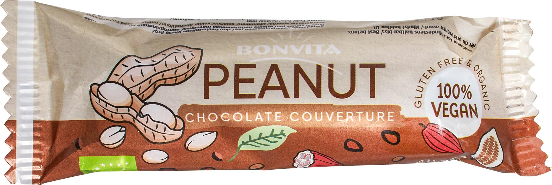 Biologische Bonvita Bonbarr rijstmelk chocolade - pinda 40 gr