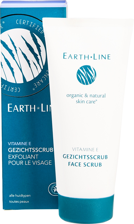 Biologische Earth.Line Gezichtsscrub vitamine E - alle huidtypen 100 ml