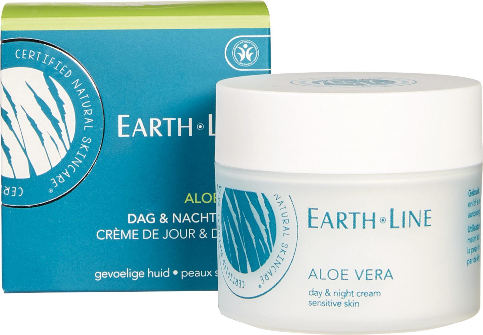 Biologische Earth.Line Dag- en nachtcrème aloë vera - gevoelige huid 50 ml
