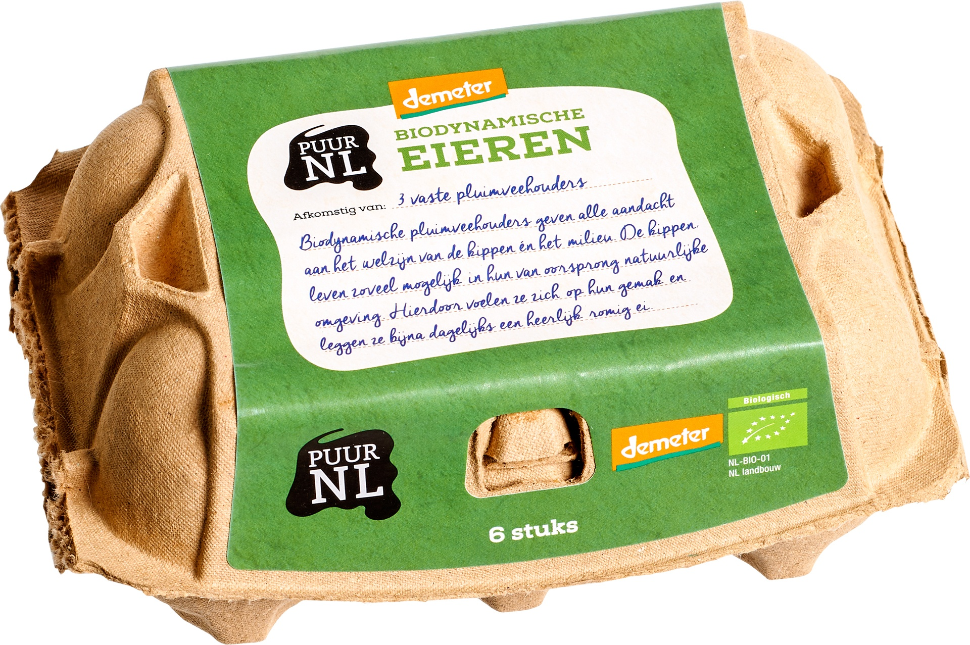 Biologische Puur NL Eieren 6 st