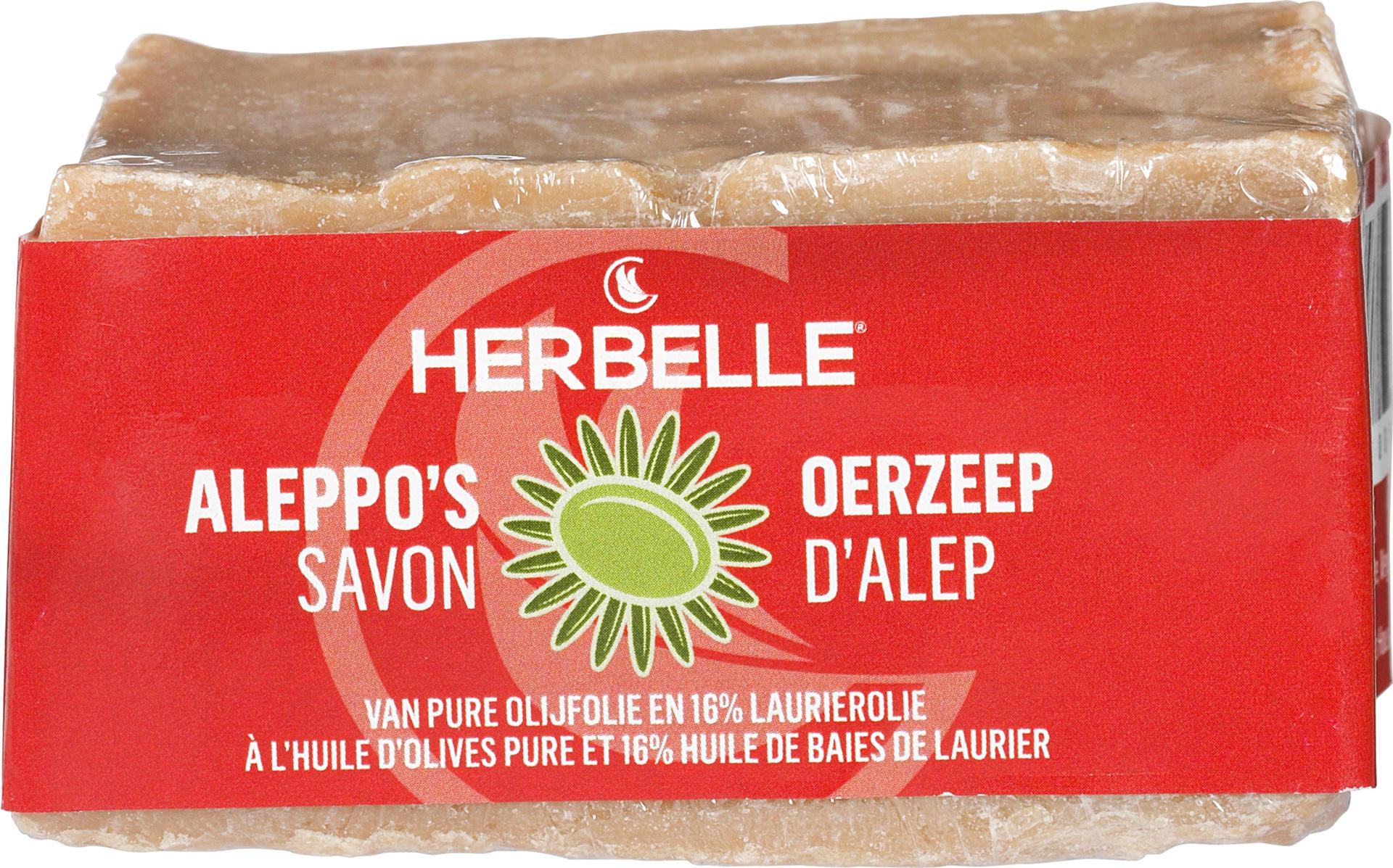 Biologische Herbelle Aleppozeep olijfolie en laurierolie 180 g