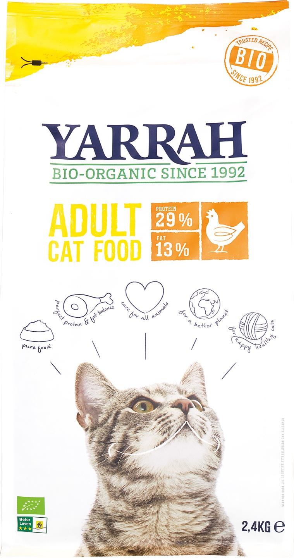Biologische Yarrah Kattenbrokken kip 2.40 kg