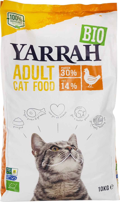 Biologische Yarrah Kattenbrokken met kip 10 kg