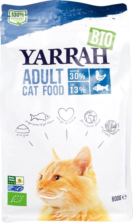 Biologische Yarrah Kattenbrokken adult 800 gr