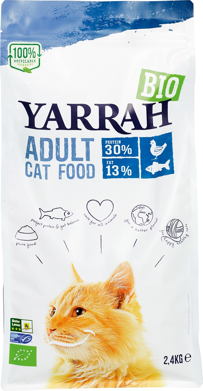 Biologische Yarrah Kattenbrokken adult 2.40 kg