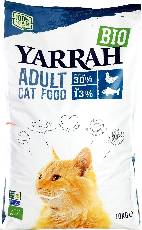 Biologische Yarrah Kattenbrokken vis 10 kg