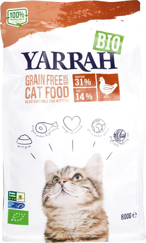 Biologische Yarrah Kattenbrokken graanvrij 800 gr