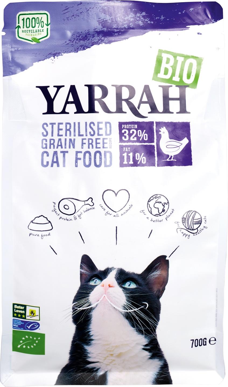 Biologische Yarrah Kattenbrokken graanvrij 700 gr