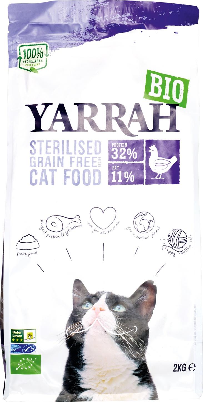 Biologische Yarrah Kattenbrokken graanvrij 2 kg