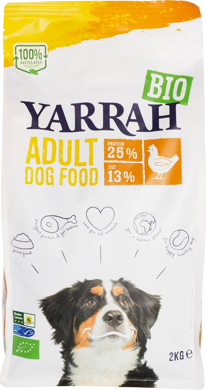 Biologische Yarrah Hondenbrokken kip adult 2 kg