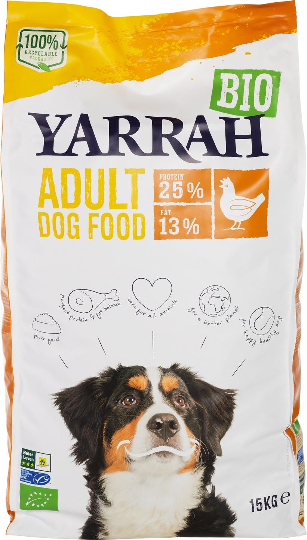 Biologische Yarrah Hondenbrokken kip adult 15 kg