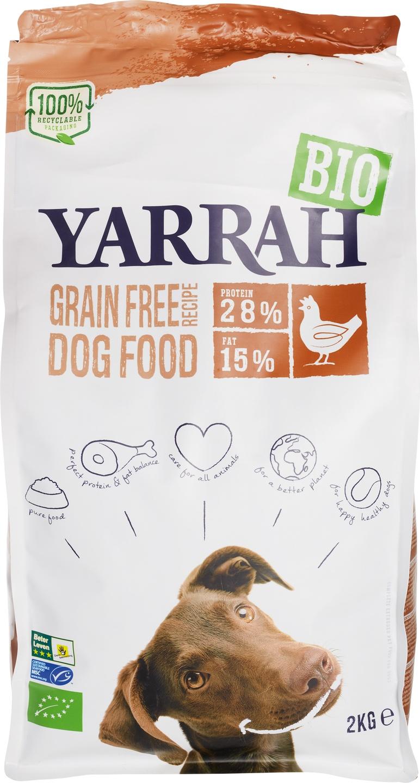 Biologische Yarrah Hondenbrokken graanvrij 2 kg