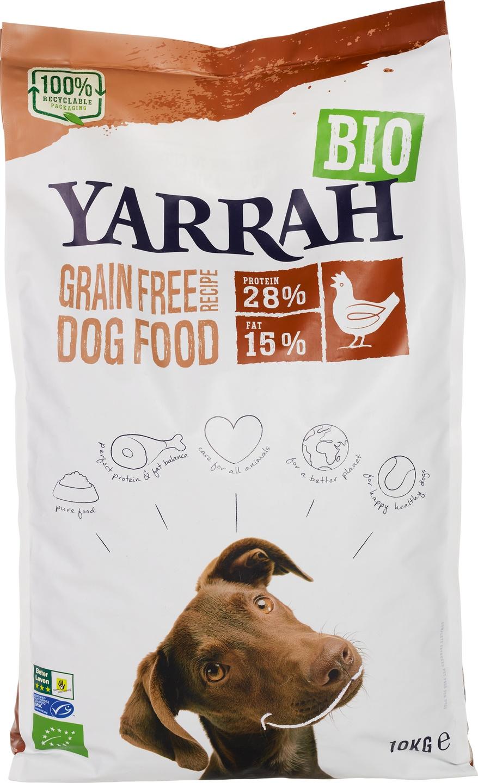Biologische Yarrah Hondenbrokken graanvrij 10 kg
