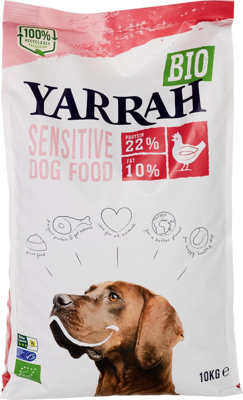 Biologische Yarrah Hondenbrokken sensitive 10 kg