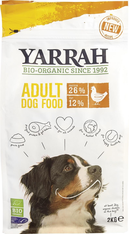 Biologische Yarrah Hond brokjes kip 2 kg