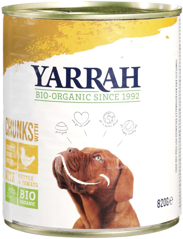 Biologische Yarrah Hond brokjes kip 820 gr