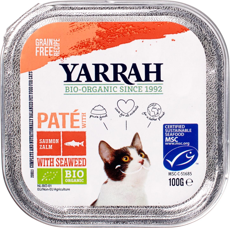 Biologische Yarrah Kattenpaté zalm 100 gr