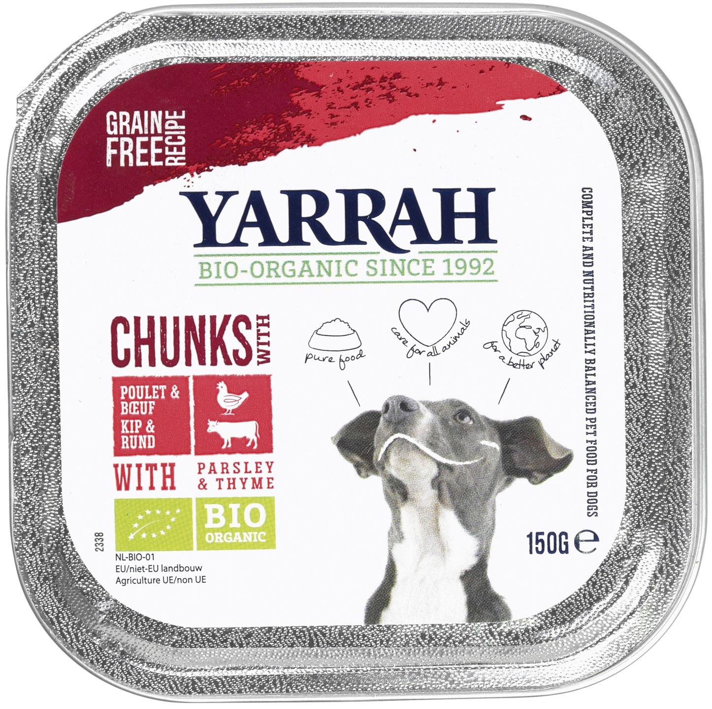 Biologische Yarrah Hond brokjes rund 150 gr