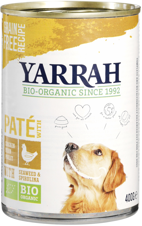 Biologische Yarrah Hond paté kip 400 gr