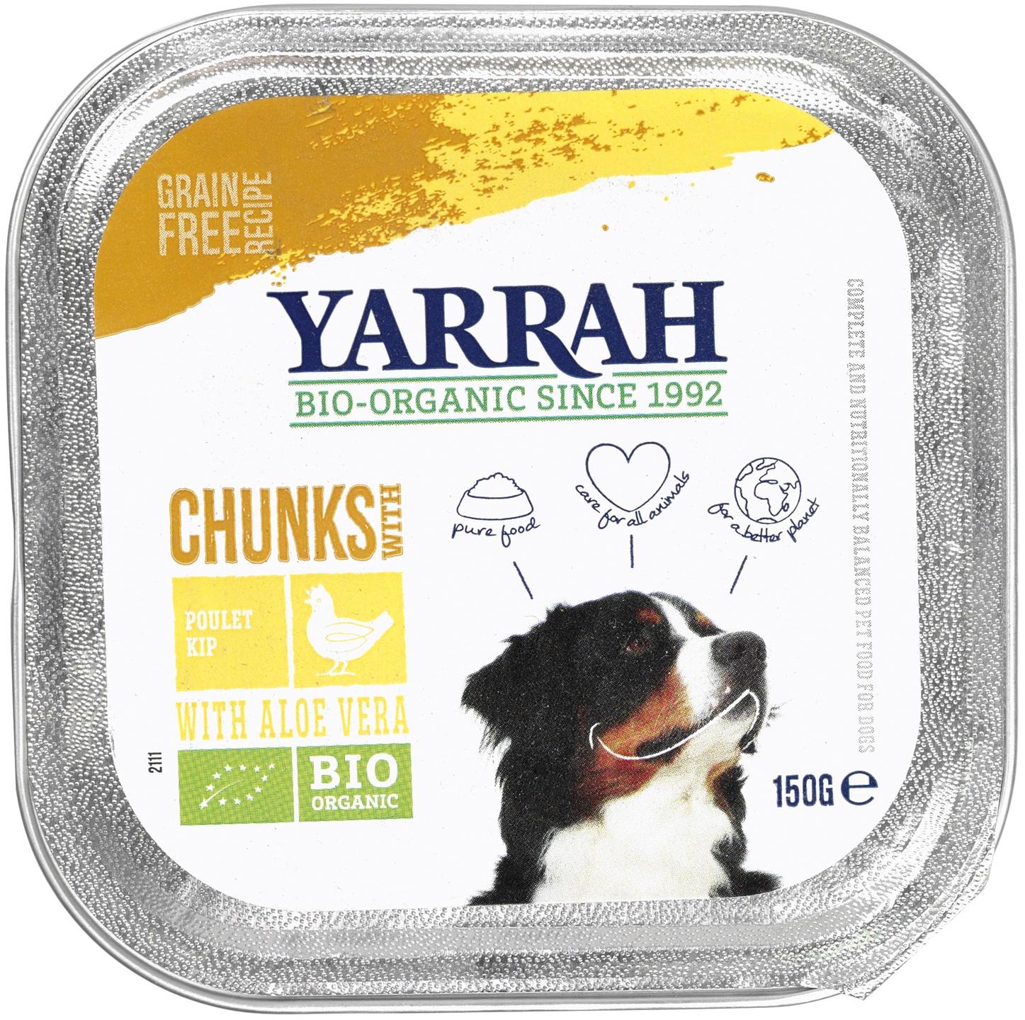 Biologische Yarrah Hond brokjes kip 150 gr
