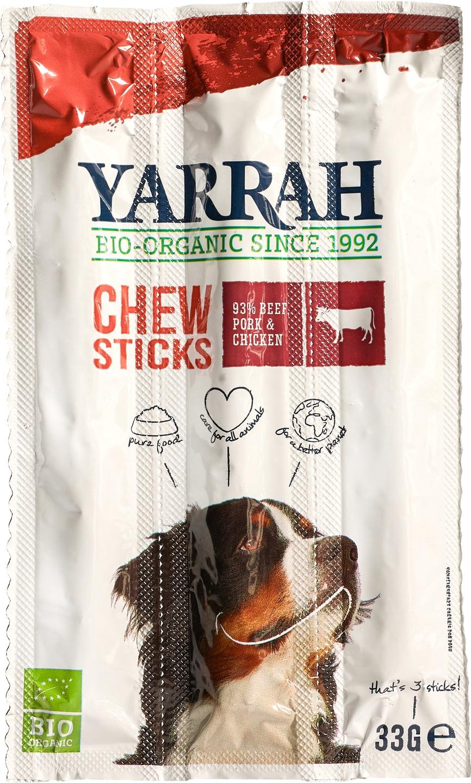 Biologische Yarrah Hond kauwsticks rund 33 gr