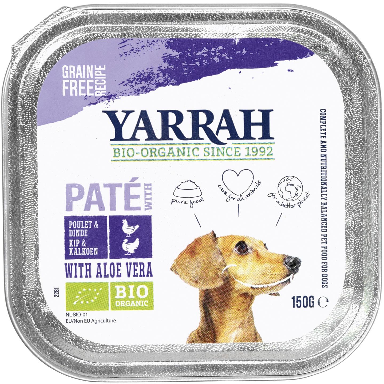 Biologische Yarrah Hond paté kalkoen 150 gr